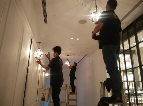 水晶燈清潔│水晶燈清洗│吊燈清潔
